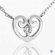 Hearts on Fire 18k white gold and diamond Necklace