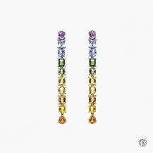 14kt white gold sapphire drop earrings