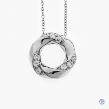 Hearts On Fire 18kt  white gold diamonds necklace
