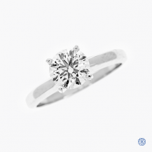 Hearts on Fire 18kt White Gold 1.06ct Solitaire Diamond Engagement Ring