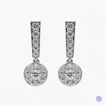 18kt white gold Hearts on Fire diamond drop earrings