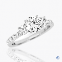 Hearts on Fire 18k white gold and diamond three-stone engagement ring