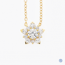 Hearts on Fire 18k rose gold diamond snowflake necklace