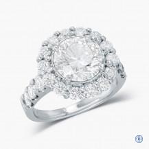 18k White Gold 3.04ct Diamond Engagement Ring