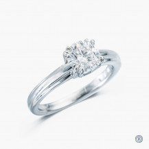platinum Lazare Kaplan 1.01ct diamond engagement ring