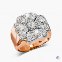 18kt Rose Gold & Diamond Clover Ring