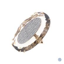 18kt Yellow Gold Smokey Quartz with Diamonds Cocktail Ring
