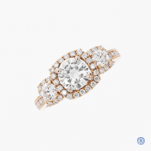 Simon G 18k Rose Gold Moissanite Engagement Ring