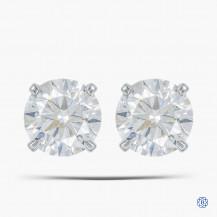 14k White Gold 1.20ct Diamond Stud Earrings