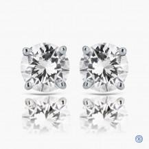 14k white gold 0.85ct diamond stud earrings