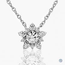 Hearts on Fire 18k white gold, diamond necklace