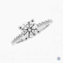 18kt White Gold Tacori Moissanite Sculpted Crescent Engagement Ring