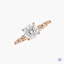 Tacori Sculpted Crescent 18kt Rose Gold Moissanite Engagement Ring