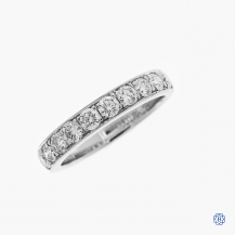 14k white gold 1.00ctw diamond band