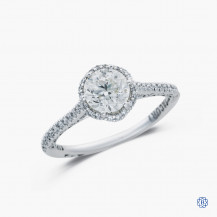 Tacori Clean Crescent 18k white gold 1.00ct diamond engagement ring