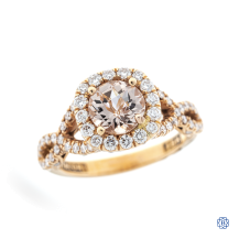 Tacori 18kt rose gold diamond and morganite engagement ring