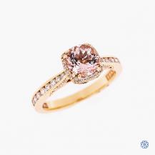 Tacori Dantela 18k rose gold morganite and diamond engagement ring