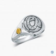 "Tacori Sterling Silver Pavé Monogram ""A"" Ring"