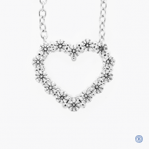 Hearts on Fire 18k white gold diamond necklace