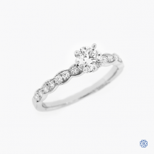 Hearts on Fire 18k white gold 0.50ct diamond engagement ring