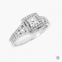 Simon G 18k white gold 0.49ct diamond engagement ring