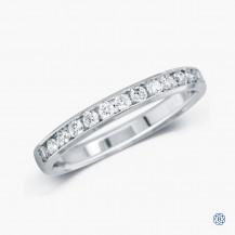 14k white gold and diamond band