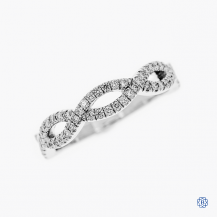 18k white gold 0.29ctw Hearts on Fire diamond band