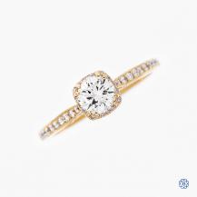 Tacori 18kt Rose Gold Dantela 0.50ct Diamond Engagement Ring