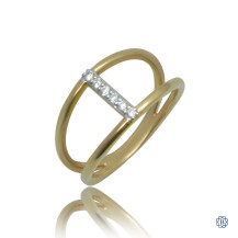 10kt Yellow Gold 0.09ct Diamond Ring