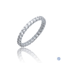 18kt White Gold 0.91ct Diamond Wedding Band