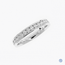 14k white gold 0.97ctw diamond eternity band