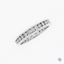 14k white gold 1.00ctw diamond eternity band