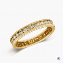 14k Yellow Gold 1.00ct Diamond Full Eternity Band