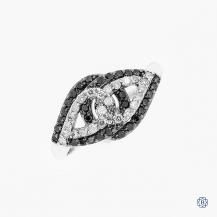 10kt White Gold 0.22ct Black Diamond Ring