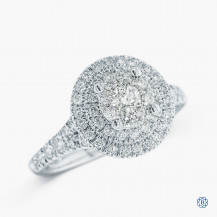10kt White Gold 0.78ct Halo Round Diamond Engagement Ring