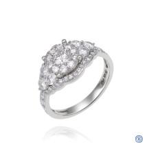 14kt White Gold 0.30ct Round Halo Diamond Engagement Ring