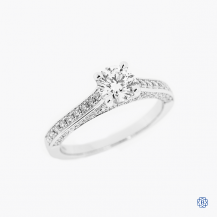 Hearts on Fire 18k white gold 0.71ct diamond engagement ring