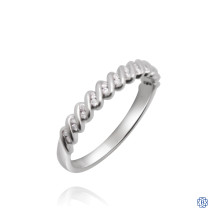10kt White Gold 0.10ct Diamonds Wedding Band