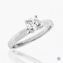 Platinum 0.70ct Maple Leaf Diamond Engagement Ring