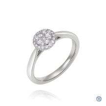 14kt White Gold 0.33ct Round Halo Diamond Engagement Ring
