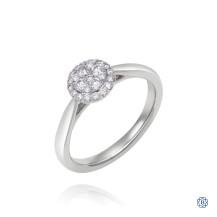 14kt White Gold 0.33ct Round Halo Diamond Engagement Ring