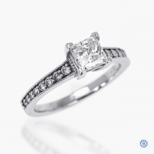 14k white gold 0.80ct diamond engagement ring