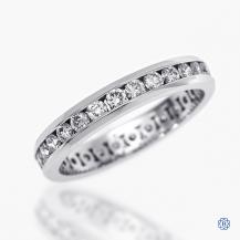 14k white gold 1.00ct diamond full eternity band