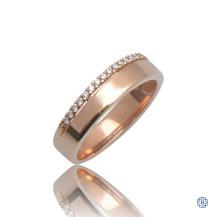 10kt Rose Gold 0.12ct Diamond Wedding Band