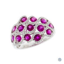 The Josephine Ring: 18kt White Gold Ruby and Diamond Ring