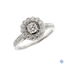 14kt white gold 0.29ct diamond Noam Carver engagement ring