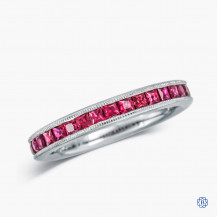 Gabriel & Co. 14k White Gold and Ruby Band