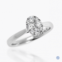 14kt White Gold 0.53ct Diamond Cluster Engagement Ring