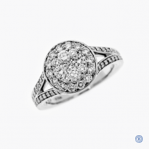 14kt White Gold 1.02ct Halo Round Diamond Engagement Ring