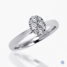 14kt White Gold 0.38ct Solitaire Oval Diamond Engagement Ring